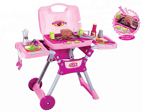 Kitchen Bbq Pretend Play Grill Set With