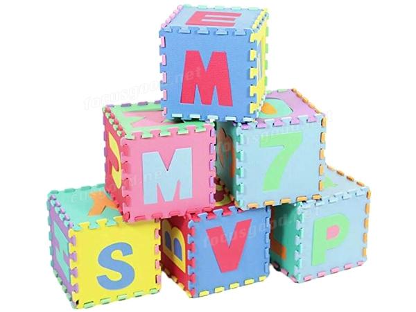 Alphabet Amp Numbers Foam Puzzle Eva Floor Play Mat 36 Pcs